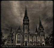 Church Photo Posters - Dark Kingdom Poster by Evelina Kremsdorf