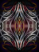 Ornamental Digital Art - Dark Light by Ann Croon