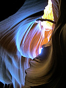 Peter Lik Framed Prints - DARK MOON in Lower Antelope Canyon Framed Print by Ruth Hager
