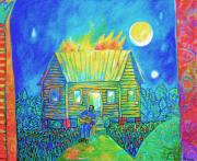 Blues Painting Originals - Dark Night Blues by Joe Roache