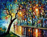 Rain Painting Framed Prints - Dark Night Framed Print by Leonid Afremov