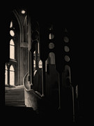 Dark Passage At The Segrada Familia Print by Lynn Andrews