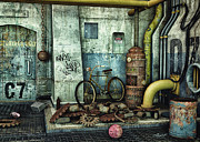 Boiler Digital Art - Dark Places Tell Stories by Jutta Maria Pusl