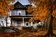 Country Cottage Photos - Dark Shadows by Debra and Dave Vanderlaan