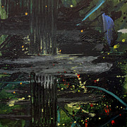 Space Painting Originals - Dark Space by Ethel Vrana