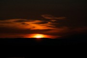 Sunset Greeting Cards Photo Prints - Dark Sun Print by Kevin Bone