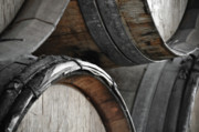 Wine Barrel Photos - Dark Wine Barrels to store vintage wine by Brandon Bourdages