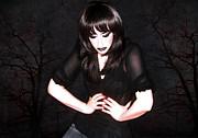 Dark Winter - Self Portrait Print by Jaeda DeWalt