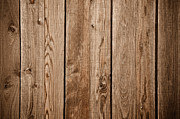 Wooden Paneling Prints - Dark Wood Fence Background Print by Brandon Bourdages
