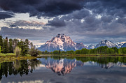 Dramatic Skies Framed Prints - Darkening Skies Over Oxbow Bend Framed Print by Greg Nyquist