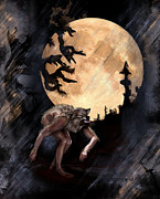Wolves Digital Art Metal Prints - Darkenwarg Metal Print by Mandem