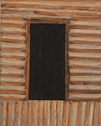 Log Cabin Art Framed Prints - Darkness Framed Print by Gregory Davis