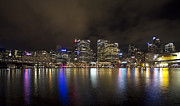 Sydney Skyline Framed Prints - Darling Harbor Sydney Skyline Framed Print by Douglas Barnard