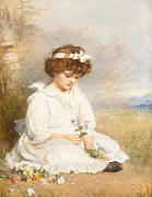 Flower Child Paintings - Darling by Sir John Everett Millais