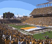 Texas Country Music Digital Art Prints - Darrell K Royal Texas Memorial Stadium Color 16 Print by Scott Kelley