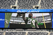 New York Jets Framed Prints - Darrelle Revis - NY Jets Framed Print by Paul Ward