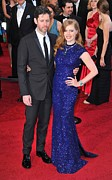 Academy Awards Oscars Prints - Darren Legallo, Amy Adams At Arrivals Print by Everett