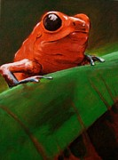 Dart Paintings - Dart Frog by Brian Carlton