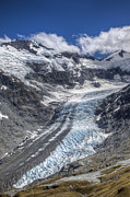Mountain Photos - Dart Glacier Above Cascade Saddle Mount by Colin Monteath