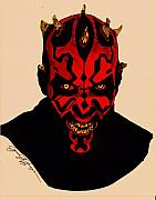 Science Fiction Mixed Media Originals - Darth Maul by Jason Kasper