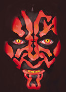 Star Metal Prints - Darth Maul Metal Print by Mark Jennings