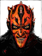Star Wars Mixed Media Prints - Darth Maul Print by Russell Pierce