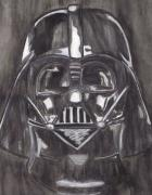 Darth Vader Paintings - Darth Vader by Jill Christensen