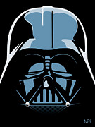 Pop Star Metal Prints - Darth Vader Metal Print by IKONOGRAPHI Art and Design