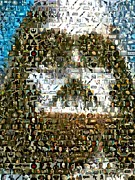 Darth Digital Art - Darth Vader Mosaic by Paul Van Scott