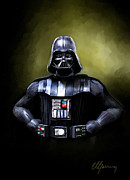 Movies Metal Prints - Darth Vader Star Wars  Metal Print by Michael Greenaway
