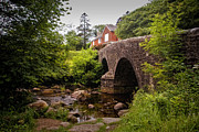 Badgers Prints - Dartmeet Bridge at Dartmoor National Park Print by Jay Lethbridge