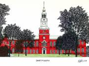 College Buildings Drawings Mixed Media Originals - Dartmouth by Frederic Kohli