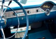 Blue Chevy Prints - Dashboard Light Print by David  Hubbs