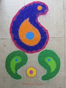 Lord Pastels - Dassehra Rangoli 2012 by Sonali Gangane