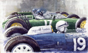Hill Paintings - Datch GP 1962 Lola BRM Lotus by Yuriy  Shevchuk