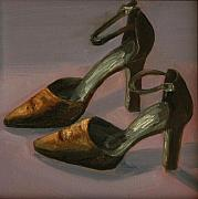 Shoe Paintings - Date Night by Alma Dankoff