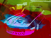 Racetrack Digital Art Prints - Datsun Print by Irina  March