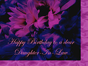 Mother Nature Photos - Daughter-in-Law Birthday Card        Chrysanthemum by Mother Nature