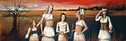 Apple Paintings - Daughters of Eve by Jacque Hudson-Roate
