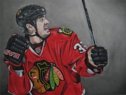 Fist Pump Drawings Posters - Dave Bolland Poster by Brian Schuster