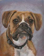 Brown Dogs Pastels - Dave by Elizabeth  Ellis