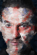British Portraits Digital Art Posters - Dave Gahan Poster by Garry West