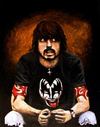 Gene Simmons Framed Prints - Dave Grohl Framed Print by Luke Morrison