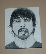 Dave Grohl Paintings - Dave Grohl by Lynette Cooper