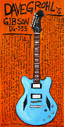 Guitars Paintings - Dave Grohls DG 335 by Karl Haglund