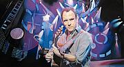 Dave Drawings Metal Prints - Dave Matthews and 2007 Lights Metal Print by Joshua Morton