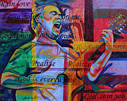 Lead Singer Painting Originals - Dave Matthews Bartender by Joshua Morton