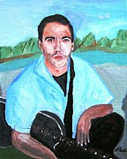 Puppies Paintings - Dave Matthews by Buddy Paul