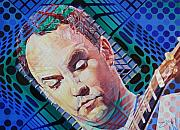 Singer  Paintings - Dave Matthews Open Up My Head by Joshua Morton