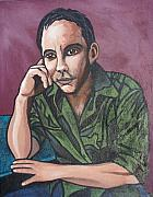 Dave Matthews Band Painting Originals - Dave Matthews by Sarah Crumpler